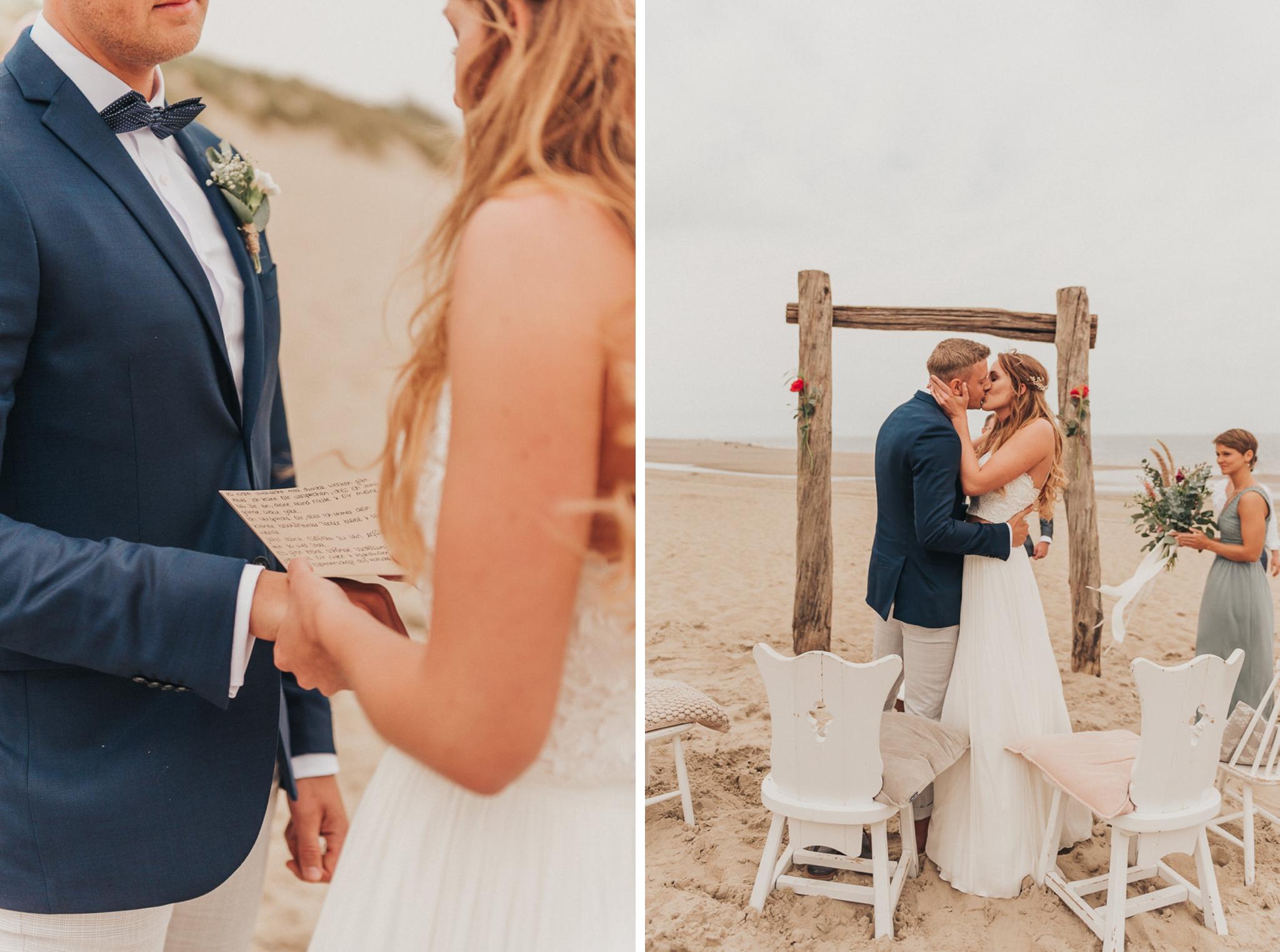 Strandhochzeit Niederlande, Strandhochzeit Holland, Hochzeitsfotograf